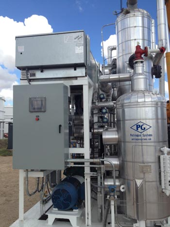 Refrigeration system used to process oil and natural gas.