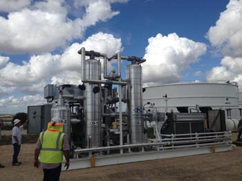 Vapor recovery systems used during oil and gas processing.